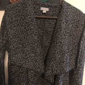 Kenar cheetah print sweater coat
